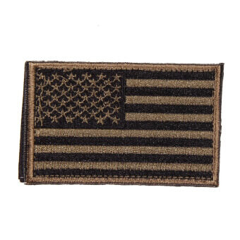 Harga AMERICAN FLAG Embroidered Patch Patriotic USA Military Patch Army Green
