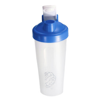 Harga BPAfree Shake Protein Blender Shaker Mixer Cup Drink Whisk Bottle Blue 600ml