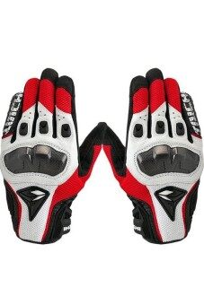 Harga Moonar RS Taichi Leather Motorcycle Gloves Red/White