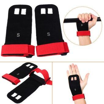 Harga Weight Lifting Pull Up Hand Grip Palm Protectors Fitness Gloves (red/s)