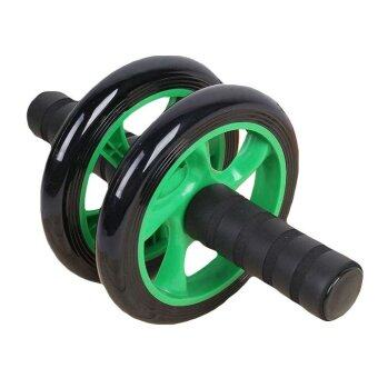 Harga EcoSport New Generation Fitness Double Roller Exercise AB Wheel (Green) + Free Knee Mat