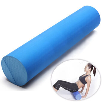 Harga 60x15cm EVA Yoga Gym Pilates Fitness Foam Roller Massage Home Gym Band Smooth Stretch Exercise Fitness