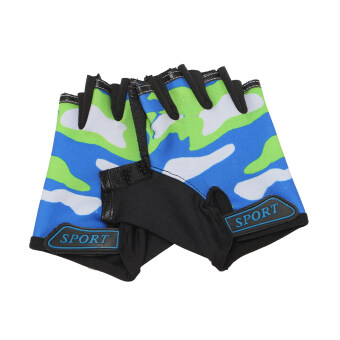 Harga KIDS PADDED CYCLING / BICYCLE / BIKE / CYCLE / BMX GLOVES Green
