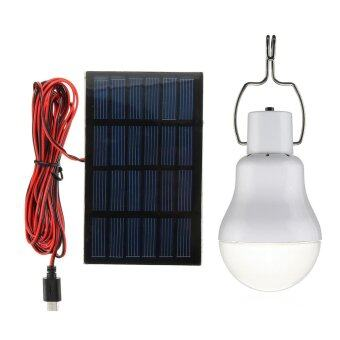 Harga Outdoor Solar Panel Powered LED Bulb Lamp Portable Camp Tent Fishing Light Hook