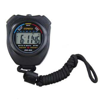 Harga Running Timer Chronograph Stopwatch Counter (Black)