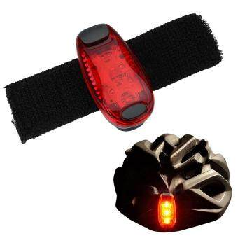 Harga Bicycle Taillights Outdoor Cycling Running Helmet Backpack Safety Warning Light