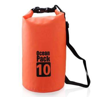 Harga 10L Ocean Pack Premium Waterproof Storage Dry Bag Pouch for Boating Kayaking Hiking Surfing Travelling Beach 10 Litres (10L)