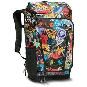Harga GPL/ The North Face Kaban Transit Backpack TNF Red Sticker Bomb Print/TNF Black/ship from USA