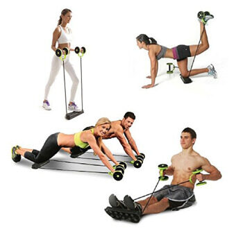 Harga Multi-function Core & Abdominal Trainers Double Wheel AB Roller Fitness Wheel Fitness Equipment