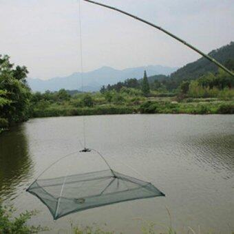 Harga 60*60cm Fishing Nets Foldable Mesh Baits Trap Cast Dip Net Crab Shrimp Smelt Eel Crab Lobster Minnows Shrimp Crawfish Net