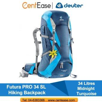 Harga Deuter Futura PRO 34 SL Hiking Backpack- Midnight Turquoise