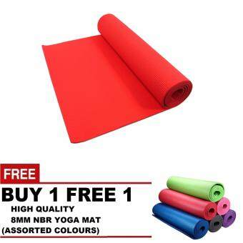 Harga Buy 1 Free 1 - LEXCON High Quality 8mm NBR Yoga Mat