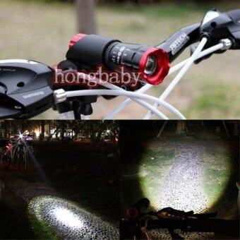 Harga Cycling Bike Super Bright Bicycle Night Front Light CREE Q5 Torch 240 lm + Clip