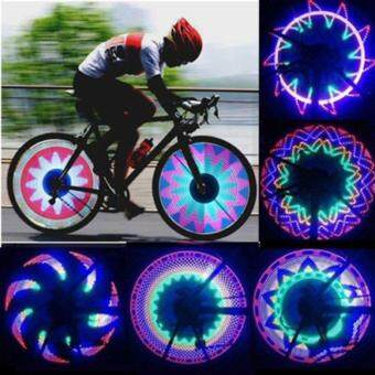 Harga New Arrival Colorful Bicycle Lights Bike Cycling Wheel Spoke Light 32 LED 32-pattern Waterproof