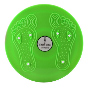 Harga 360WISH Waist Twisting Foot Massage Disc Magnet Balance Rotating Board Loss Weight Fitness Equipment - Green