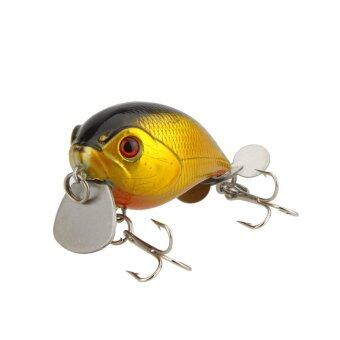 Harga 14g 5cm Lifelike Small Hard Fishing Lure Chubby Crank Bait Tackle with Treble Hooks Diving 1m