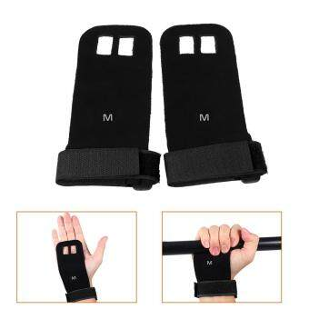 Harga Sports Weight Lifting Hand Grips Guard Palm Protector Fitness Gloves (black/m)