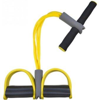 Harga 4 Tube Strong Fitness Resistance Bands Exerciser Sit Up Pull Ropes Yoga Fitnes