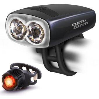 Harga Bike Light USB Rechargeable - Cycle Torch Night Owl, Perfect Urban Commuter Bicycle Light Set - Bright TAIL LIGHT Included - Compatible with Mountain, Road ,Kids & City Bicycles, Increase Safety & Visibility