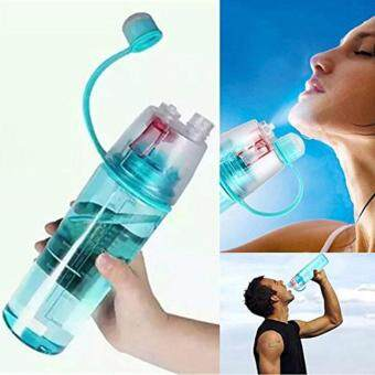 Harga Sports Bottle Spray Water Bottle Simple and Stylish Plastic Bottle With Jet and Large Capacity 600ML