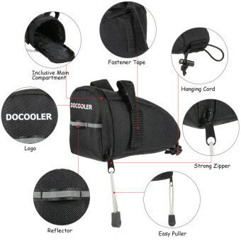 Harga Docooler Bike Bicycle Cycle Saddle Bag Ultra-light Seat Bag Pouch Rear Tail Pack Bag