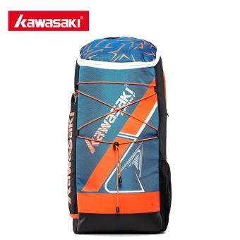 Harga Kawasaki KBB-8230 Badminton Bag Backpack Three Racket Capacity Men Women Badminton Tennis Racket Sports Bags(Blue)