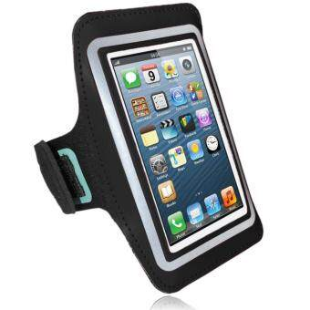 Phone Arm Pouch Cycling Running Jogging Gym Excercise Armband Holder For Various Mobile Phones Up To 5.5 inches (Black)