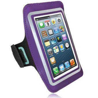 Phone Arm Pouch Cycling Running Jogging Gym Excercise Armband Holder For Various Mobile Phones Up To 5.5 inches (Purple)