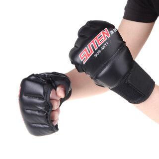 Găng Tay Nửa Ngón Bằng Da PU Găng Tay Đấm Bốc MMA Muay Thái thumbnail