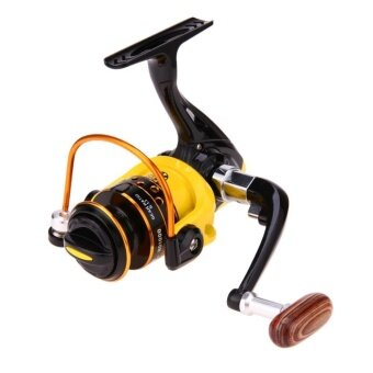 Spinning Reel Aluminum Spool Fishing Reel Fish Tackle Wheel(Yellow)-HD1000