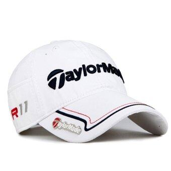 Taylor Made Commemorative Adjustable Cap TaylorMade golf hat Tour Sport Fitted hat (White)