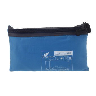 Harga Ultra-light Single Polyester Pongee Healthy Sleeping Bag LinerPortable Camping Travel Sleeping Bag Blue