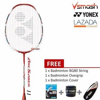 Yonex Arc Saber 11 Metalic Red (3U) Badminton Racket Package