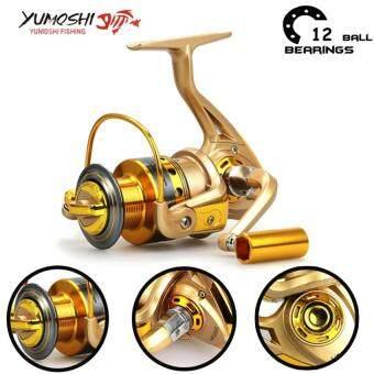 Yumoshi Carp HF500 12BB Feeder Metal Body Big Spinning Fishing Reel Fishing Reels Shimano