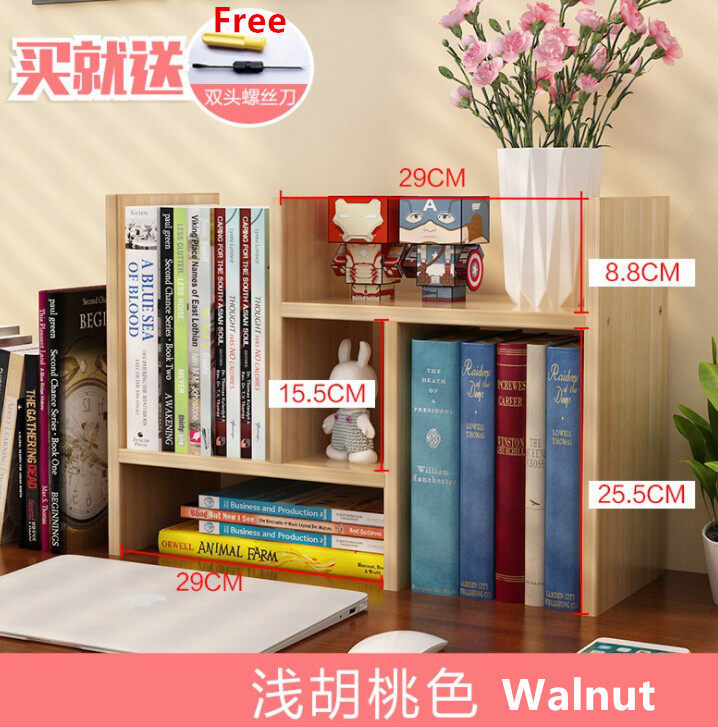 DIY Multi Pattern Book Rack Self Design Style Book Organize Book Shelf Wooden Desktop storage rack High Quality
