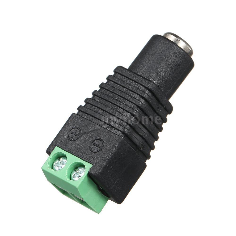 Lighting - Power Adapter Female Connector Plug for LED Strip Light - BLACK