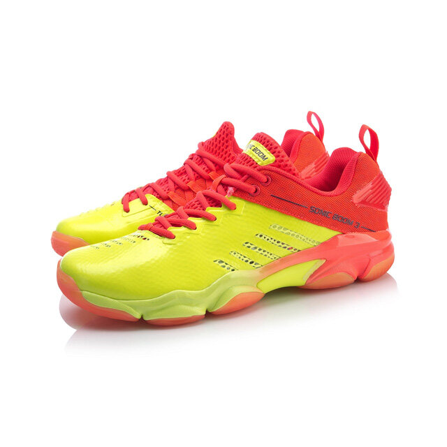 Li-Ning Sonic Boom 3.0 Men's Badminton Shoes - Red AYZP017-5