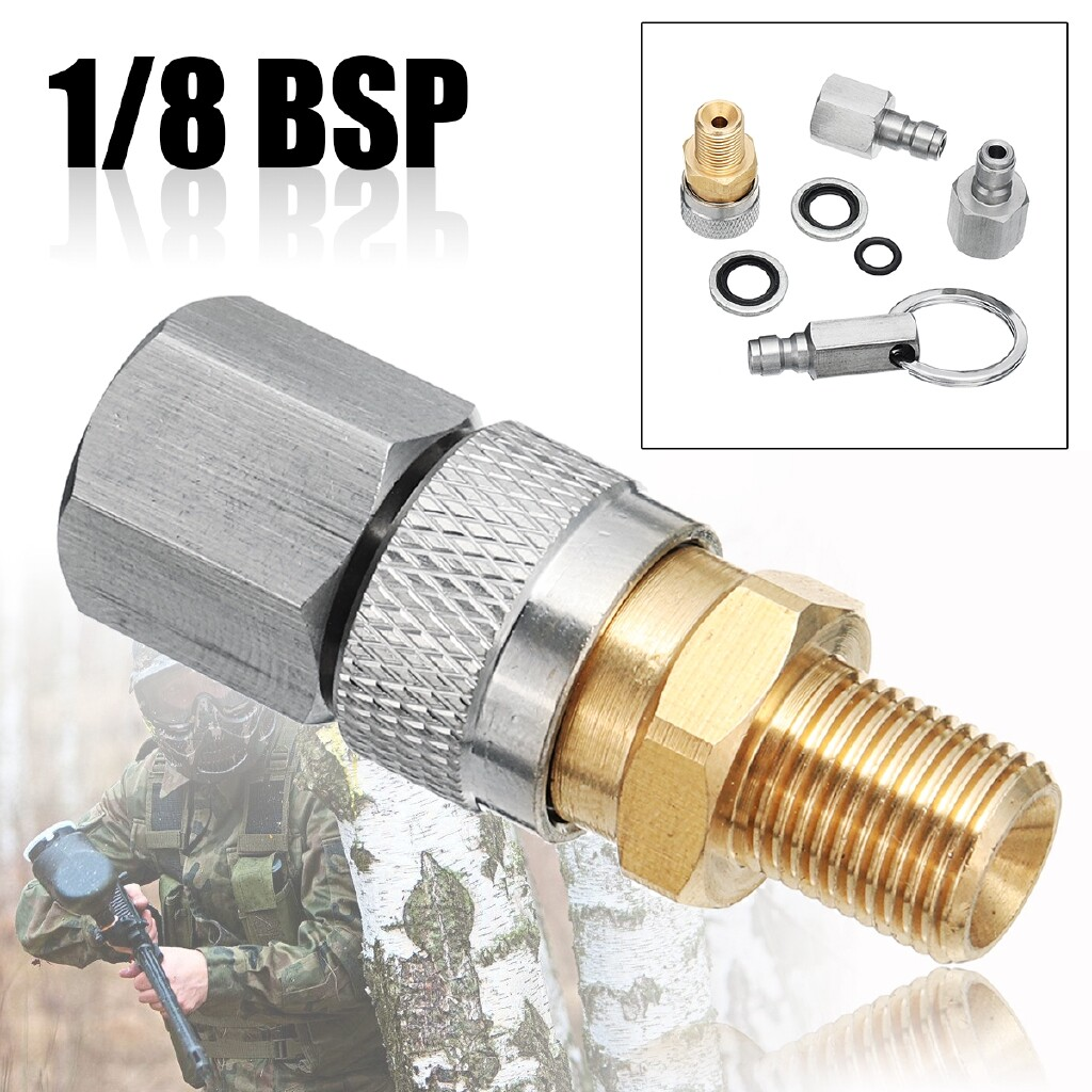 Power Tools - 1/8 BSP Quick Coupler Fittings Charging Adaptor Kit For Air Rifles PCP Filling - Home Improvement