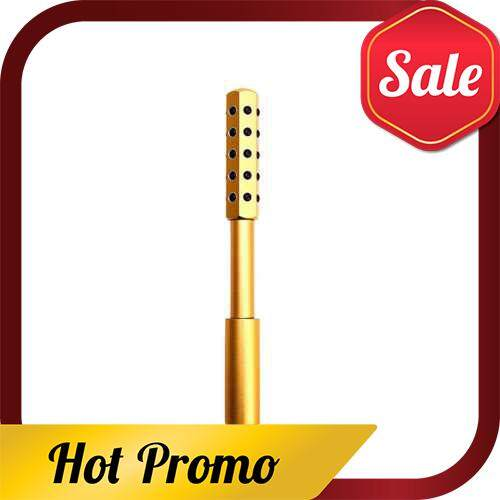 Germanium Beauty Roller Massager Wand Face Massage Tool Anti-wrinkle Face Lift Roller Double Heads Germanium Stones For Body Skin Relaxation Slimming Beauty Health Care (Yellow)