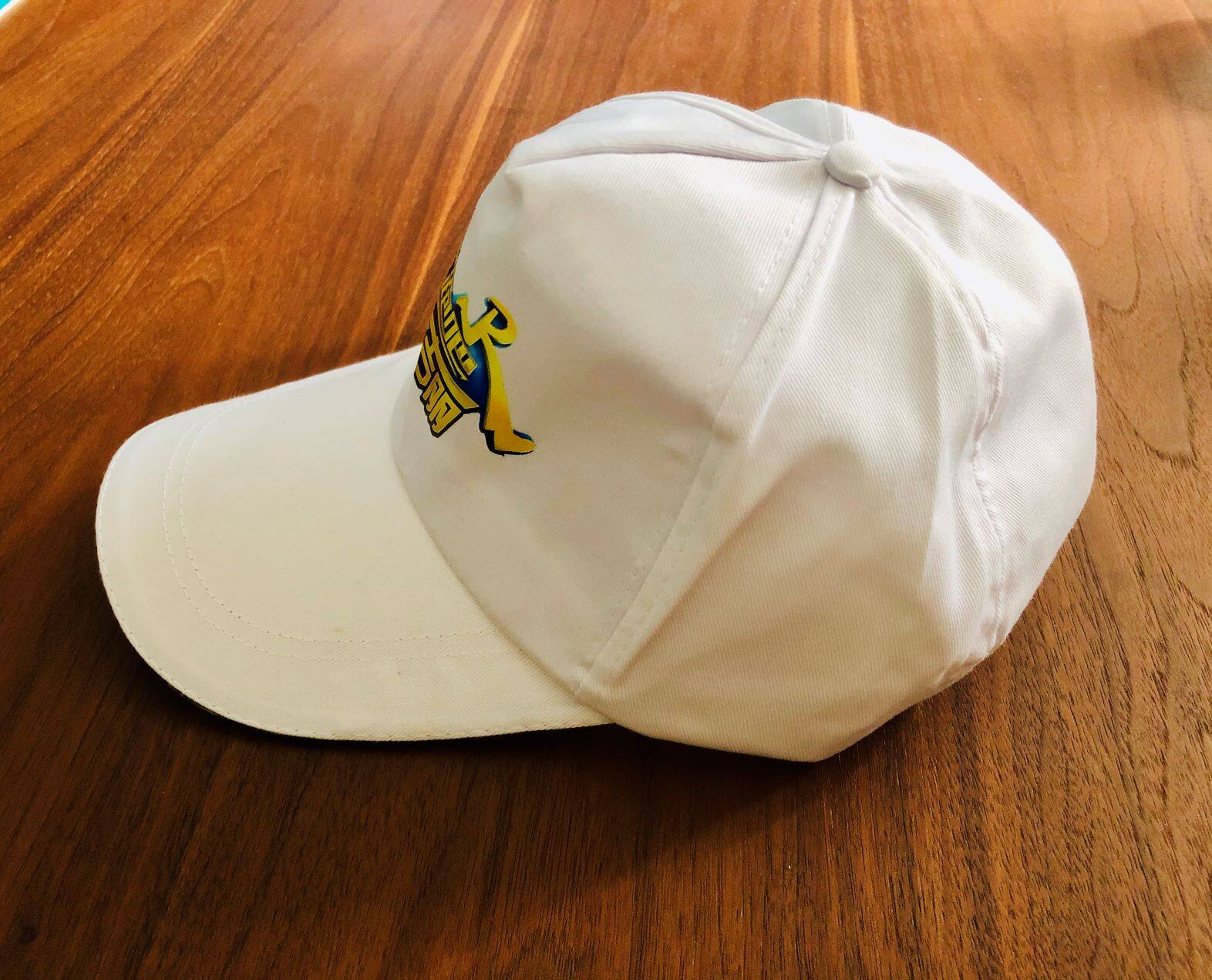 Mageline-Running Man Limited Edition White Cap