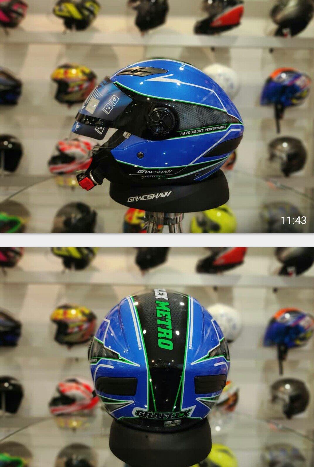 Gracshaw G666 Graflex Metro Double Visor Helmet