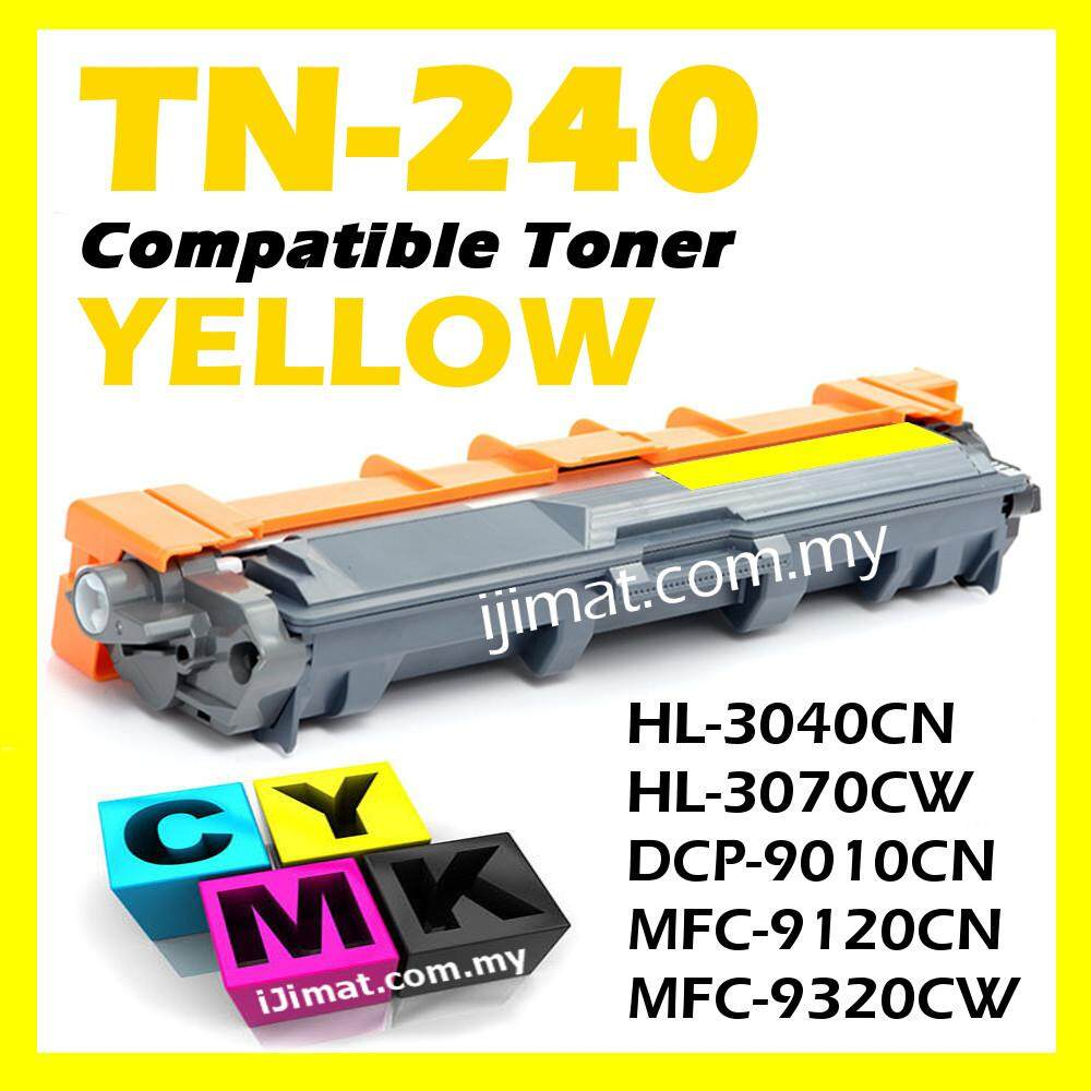YELLOW Colour Laser Toner Cartridge Compatible To Brother TN-240 / TN240 For HL-3040CN HL 3040CN / HL-3070CW HL 3070CW / DCP-9010CN DCP 9010CN / MFC-9120CN MFC 9120CN / MFC-9320CW MFC 9320CW Printer ink