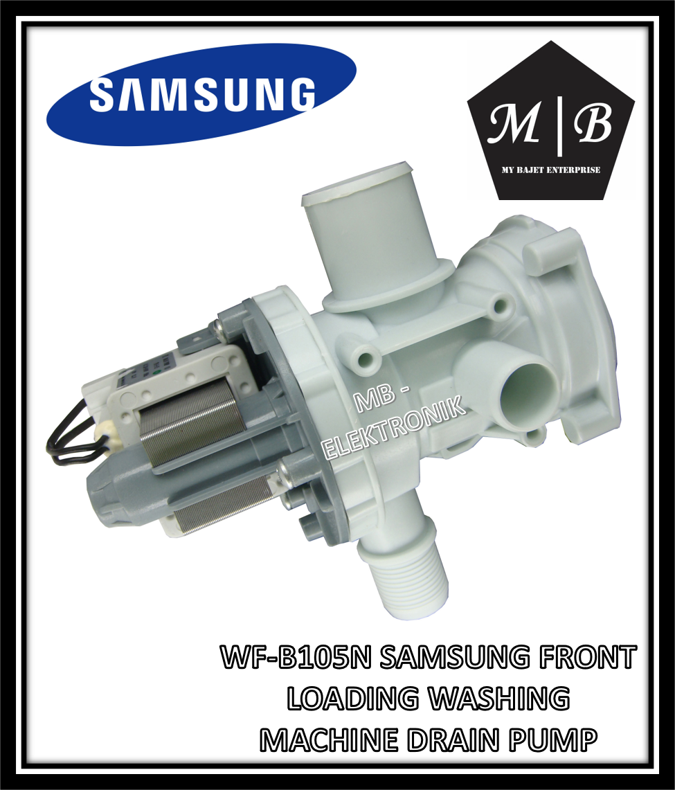 SAMSUNG FRONT LOADING WASHING MACHINE DRAIN PUMP WF-B105N DC61-10652