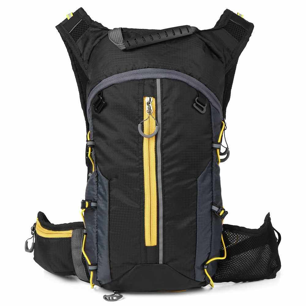 Foldable Cycling Backpack Lightweight Outdoor Sports Bike Riding Hydration Pack Backpack (Yellow)