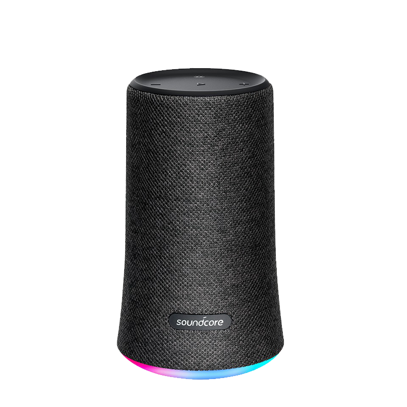 Anker Portable Speaker SoundCore Flare A3161 with Bluetooth 4.2 Connection, IPX7 Rated, SoundCore App, BassUp Tecnology, Beat-Driven Light Show, 12 Hours Playing Time