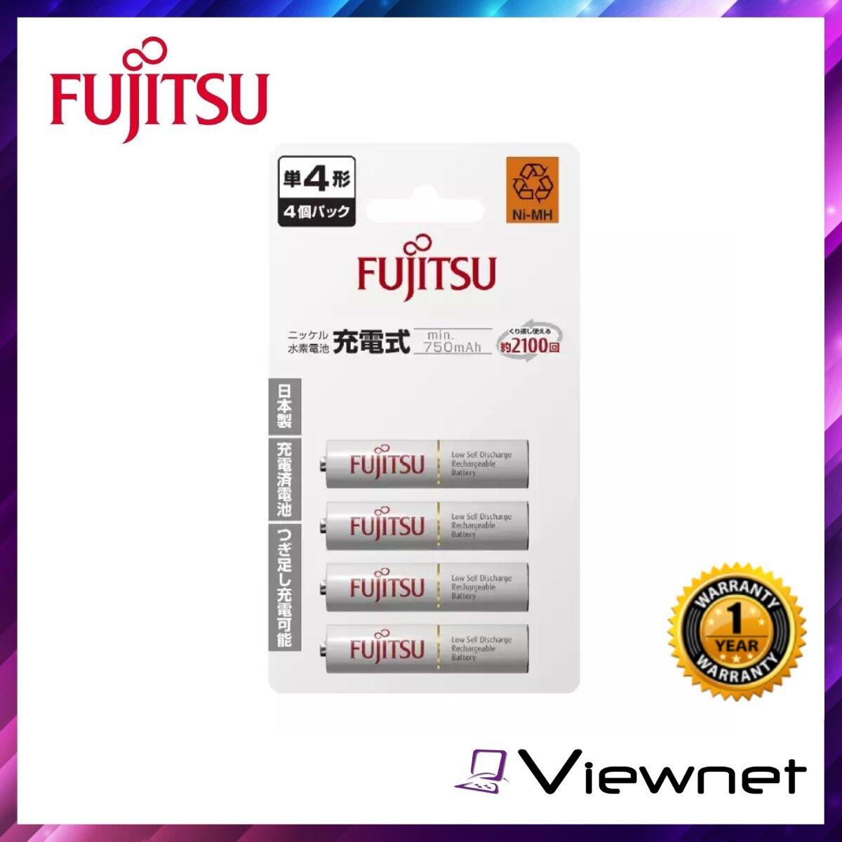 Fujitsu Rechargeable AAA Battery 4Pcs 750mAH (HR-4UTC 4B), Rechargeable, Anti Corrosion