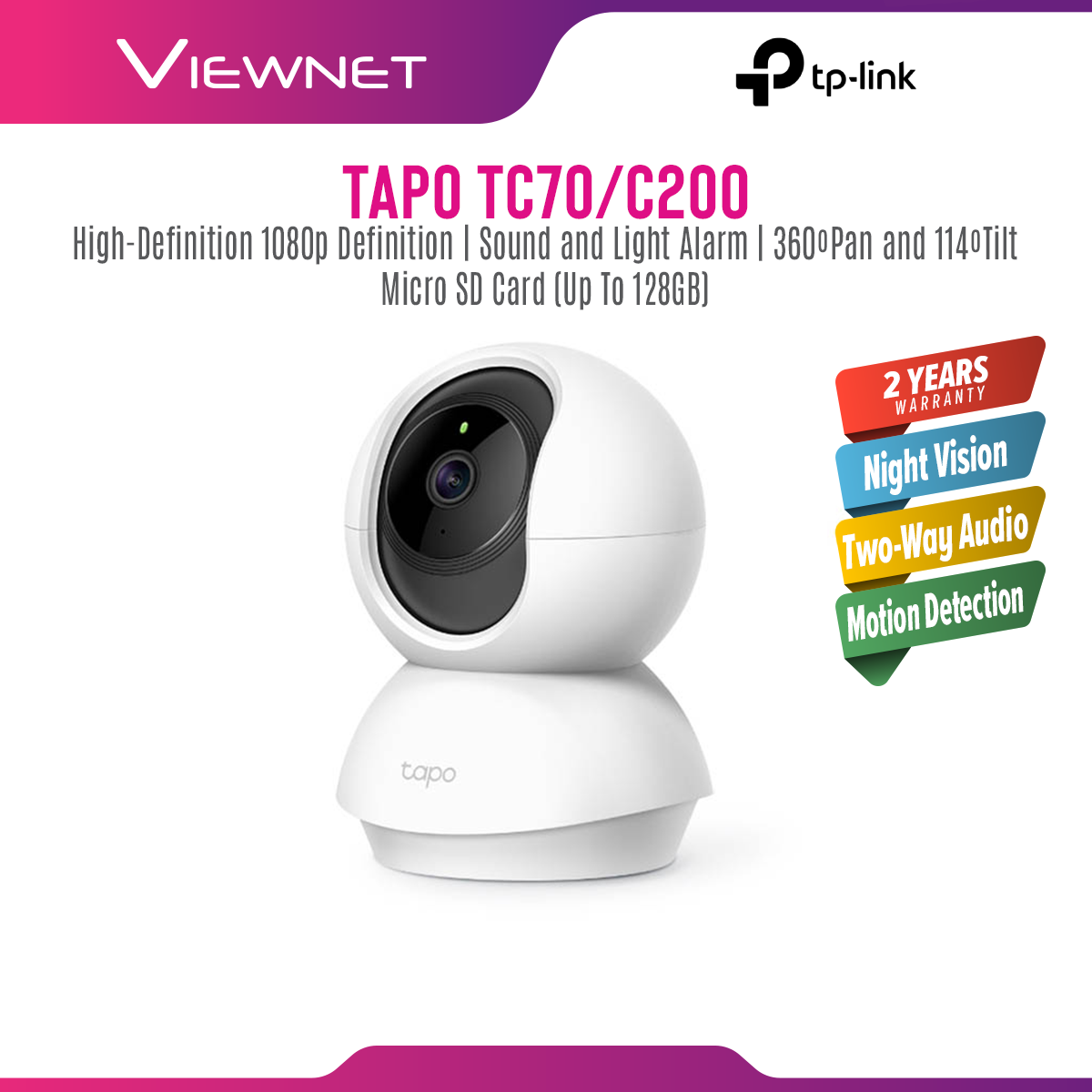 [ONLINE EXCLUSIVE 💥]TP-Link Tapo TC70 / TAPO C200 / TAPO C200 1080P Full HD Pan / Tilt Wireless WiFi Home Security Surveillance IP Camera