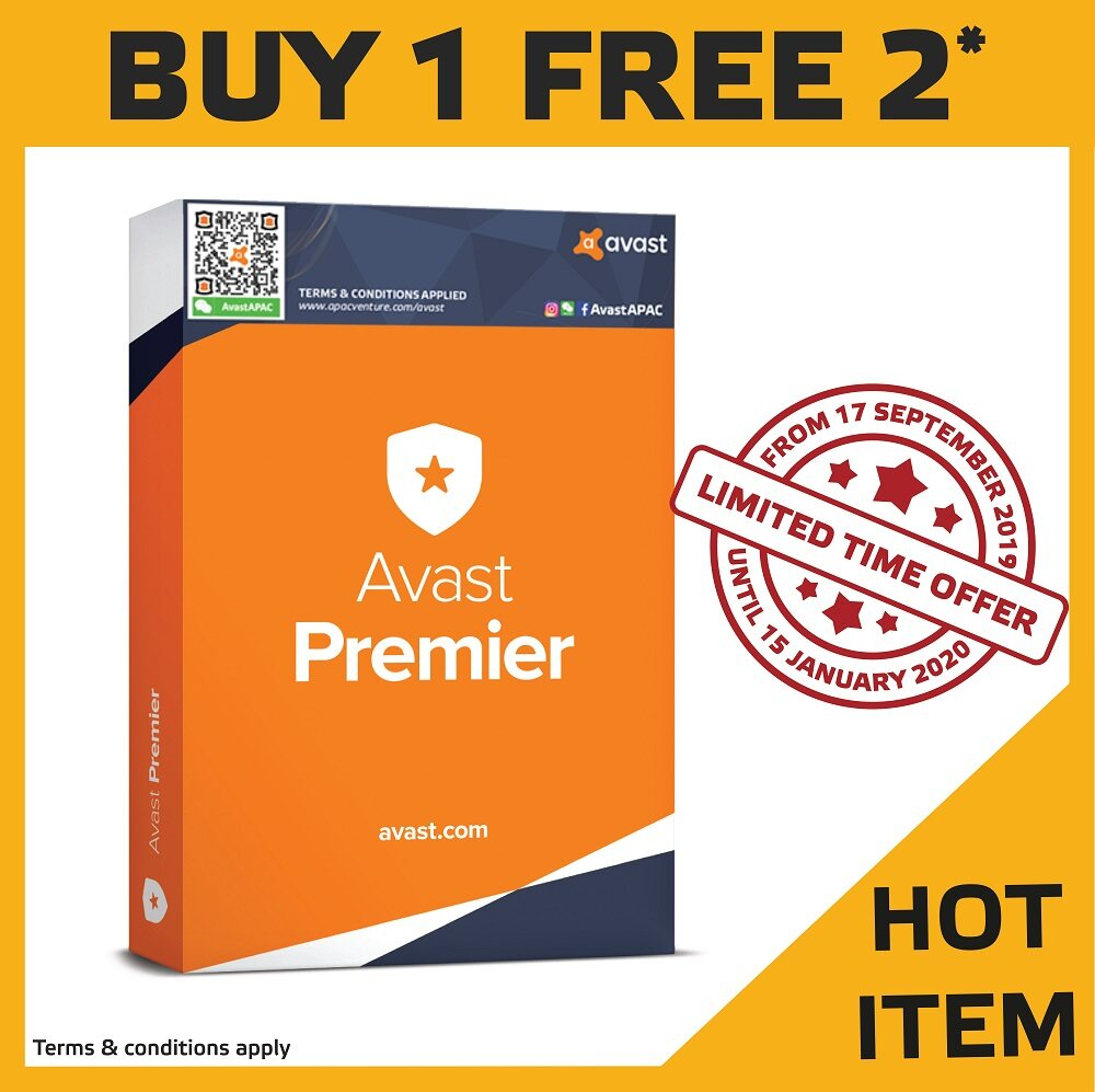 Avast Premier 1 User 1 Year (Free Additional 1 User 1 Year)