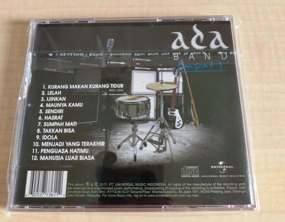 Ada Band Empati CD Lagu Pop Rock Indonesia Original Album