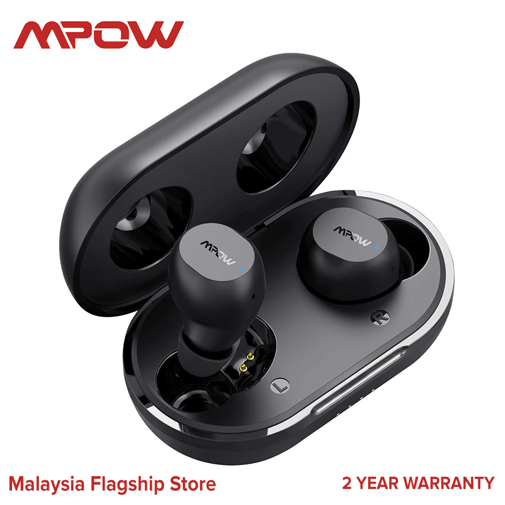 Mpow M12 Wireless Earbuds Bluetooth Earbuds,Support Wireless Charging & USB-C Charging Case Bluetooth Headphones Wireless Earphones with Mic, Bass Sound Dual Modes